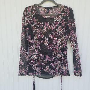 International Concepts Small Sheer black blouse